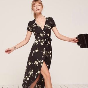 Reformation Maria Maxi Wrap Dress